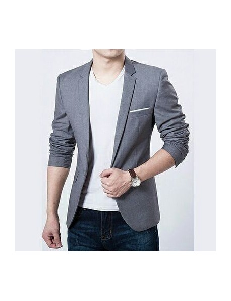 Men's Slim Fit Stylish One Button Suit Blazers