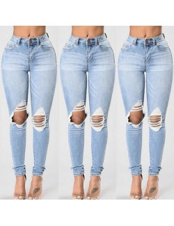 Jeans Slim déchiré denim