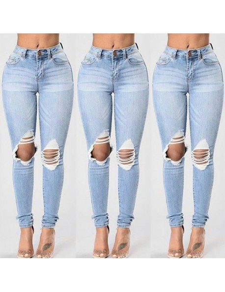 Denim Slim Ripped Jeans
